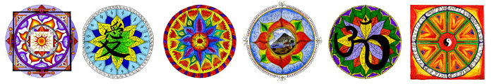 Painted mandalas by artist Chris Flisher